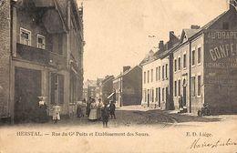 Herstal - Rue Du Gd Puits Et Etablissement Des Soeurs (ED Liège, Animée, 1906) - Herstal