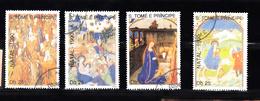 Sao Tome En Principe 1990 Mi Nr 1190 - 1202; Kerstmis, Christmas, Gestempeld - Sao Tome En Principe