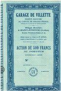 Action Uncirculed - Garage De Villette - Titre De 1936 - Automobile