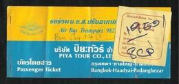 Piya Tour Co Air Bus Transport Passenger Used Ticket - Transportation Tickets