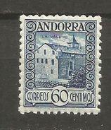 ANDORRA EDIFIL NUM. 40 ** NUEVO SIN FIJASELLOS - Andorre Espagnol