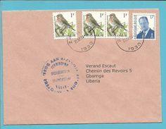 2457+2680 Op Brief Met Stempel ZAVENTEM Naar LIBERIA Met Stempel TERUG AAN AFZENDER / VERBINDING ONDERBROKEN - 1985-.. Vögel (Buzin)