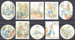 Japan 2011 - Peter Rabbit- Mi.5586-95 - Used - 1989-... Kaiser Akihito (Heisei Era)