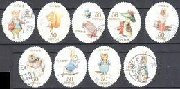 Japan 2011 - Peter Rabbit- Mi.5576-85 - 9v - Used - Usados