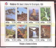 NICARAGUA  2039  MINT NEVER HINGED SOUVENIR SHEET OF PAISAJES ; PHILA KOREA '94 (  9423 - Plants