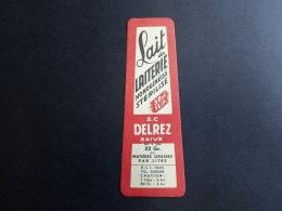 Etiquette Ancien Lait De Laiterie S.c Delrez Saive Oud Etiket Vintage Label - Etiketten