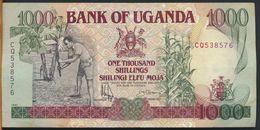 °°° UGANDA - 1000 SHILLINGS 1991 °°° - Uganda