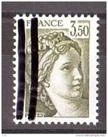 1981 - Variété 2 Bandes De Phosphore à Gauche Sur N° 2121 - Neuf ** - Type Sabine - Varieties: 1980-89 Mint/hinged