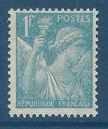 FRANCE - YT N°650 - 1f. Bleu Clair - Type Iris - Neuf** - TTB Etat - 1939-44 Iris