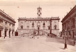 Italie Rome Roma Place Du Capitole Piazza Del Campidoglio Ancienne Photo 1890 - Photographs