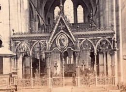 Royaume Uni Hereford Cathedrale Jubé Ancienne Photo Bedford? 1880 - Photographs
