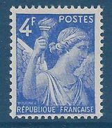 FRANCE - YT N°656 - 4f. Bleu - Type Iris  - Neuf** - TTB Etat - 1939-44 Iris