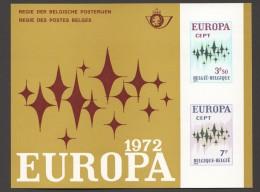1972   Europa  Feuillet De Luxe    COB 1623-4 - Libretti Di Lusso
