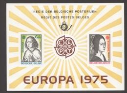 1975   Europa  Feuillet De Luxe    COB  1766-7 - Libretti Di Lusso