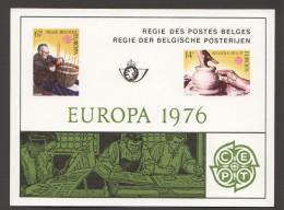1976   Europa  Feuillet De Luxe    COB  1805-6 - Libretti Di Lusso