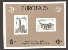 1978   Europa  Feuillet De Luxe    COB  1891-2 - Libretti Di Lusso