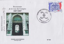 Enveloppe  FDC  1er  Jour    MAYOTTE     Bicentenaire  De  La  COUR  DES  COMPTES   2007 - Mayotte (1892-2011)
