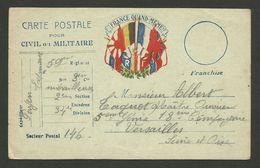 Carte F.M. / Secteur Postal 146 Pour VERSAILLES - Oorlog 1914-18