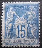 LOT GD/V100 - SAGE Type II N°90 - CàD BLEU - 1876-1898 Sage (Type II)
