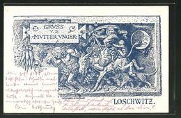 Lithographie Dresden-Loschwitz, Gasthaus Mutter Unger - Dresden
