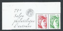 SABINE DE GANDON  SALON PHILATELIQUE D'AUTOMNE 2017 TIMBRE DU BLOC FEUILLET - 1977-81 Sabine Van Gandon
