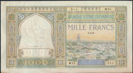 °°° MAROC MOROCCO - 1000 FRANCS 5/5/1938 °°° - Marocco