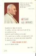 "Message Aux Infirmes De Jean XXIII  3.5"" X 5.5""  9 Cm X 14 Cm Message To The Sick From Pope John XXIII - Devotion Images"