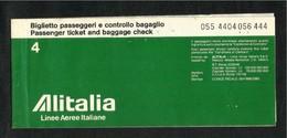Alitalia  Airline  Transport Ticket Used  Passenger Ticket 3 Scan - Transportation Tickets