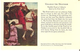"""Galahad The Deliverer Twelfth Panel Of Abbey's Quest Of The Holy Grail 3.5"""" X 5.5""""  9 Cm X 14 Cm - Devotion Images"""
