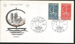 J) 1966 FRANCE, EUROPA CEPT, MULTIPLE STAMPS, BOAT, HOUSES, FDC - France
