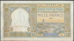 °°° MAROC MOROCCO - 1000 FRANCS 5/9/1939 °°° - Maroc