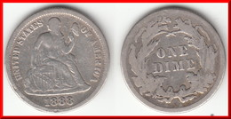 **** USA - ETATS-UNIS - UNITED-STATES - 1 DIME 1888 - ONE DIME 1888 - SEATED LIBERTY - SILVER **** EN ACHAT IMMEDIAT !!! - Federal Issues