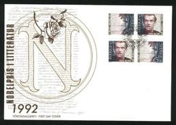 Sweden. FDC Cachet 1992  Nobel Prize Literature.Engrav.Cz. Slania. - Nazarkowski - Sweden