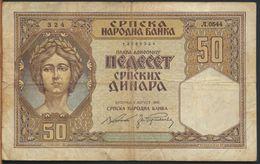 °°° SERBIA - 50 DINARA 1941 °°° - Serbia