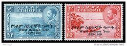 Ethiopia, 1960, World Refugee Year, MNH Perforated Set, Michel 389-390 - Ethiopie