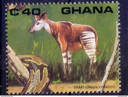 Ghana MNH, Okapi, Wild Animals - Stamps