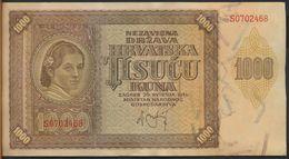 °°° CROAZIA - 1000 KUNA 1941 °°° - Croatie