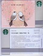 Starbucks China 2017 Chinese Valentine's Day Gift Card RMB500(see Picture) - China