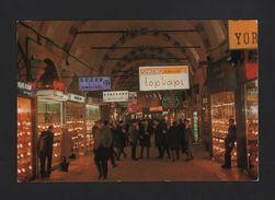 TURKEY TURQUIE ISTANBUL 1960years Postcard GRAND BAZAR Shops Stores Z1 - Postcards