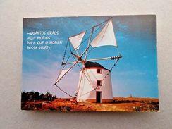 ART POSTCARD 1970s PORTUGAL WINDMILLS MILL MOULINS MOULINS WIND MILLS MOLINOS Z1 - Postcards