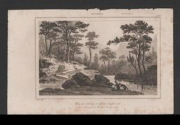 Danvin 1830ys Rare AUSTRALIA Antique Print GLEN BROOK CRECK New South Wales  Z1 - Postcards