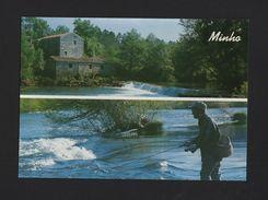 PORTUGAL MINHO CAMINHA VILAR DE MOUROS RIO COURA Watermill Mill Fisherman Trouts - Postcards