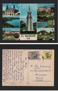 POSTCARD EL SALVADOR Year 1968 Stamps JOHN KENNEDY Z1 - Postcards