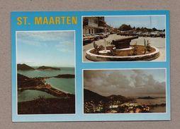 ST. MAARTEN  Caribbean Postcard  1980years Cars Car Automobiles & Views Z1 - Unclassified