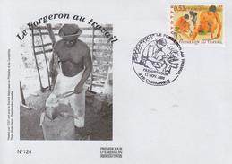Enveloppe  FDC  1er  Jour    MAYOTTE     Le  Forgeron  Au  Travail    2005 - Métiers