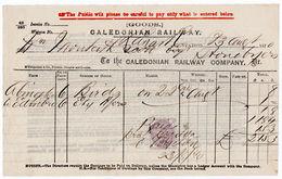 (I.B) Caledonian Railway : Despatched Goods Invoice (1870) - 1840-1901 (Victoria)