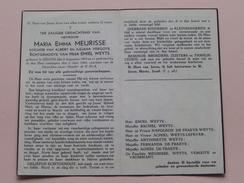 DP Maria MEURISSE Dochter Van VERGOTE ( Emiel WEYTS ) Izegem 6 Aug 1872 - 3 Juni 1944 ( Detail Zie Foto's ) ! - Décès