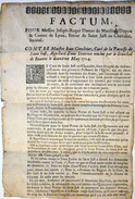 42 SAINT JUST EN CHEVALET  FACTUM POUR LE COMTE  DE MARILLAT CONTRE LE CURE DE SAINT JUST EN CHEVALET 1704 - Historische Documenten