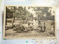 Stella-Plage Enfants De La Colonie Bois-Colombes En Forêt - France