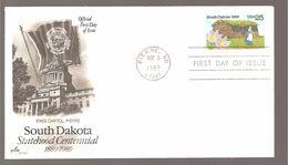 FDC 1989  SOUTH  DAKOTA - Ersttagsbelege (FDC)